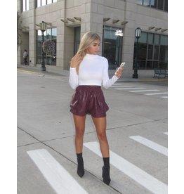 LEXI DREW Jogger Leather Shorts
