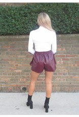 LEXI DREW Jogger Leather Shorts
