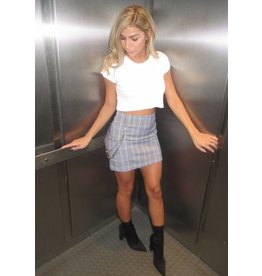 LEXI DREW Plaid Chain Skirt