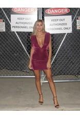 LEXI DREW Velvet Twist Dress