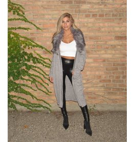 LEXI DREW Faux Fur Cardigan