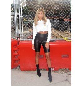 LEXI DREW Leather Biker Shorts