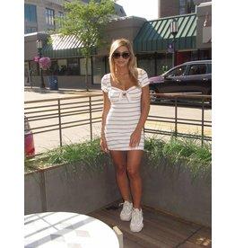 LEXI DREW Stripe Bow Dress