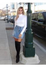 LEXI DREW Wrap Denim Skirt