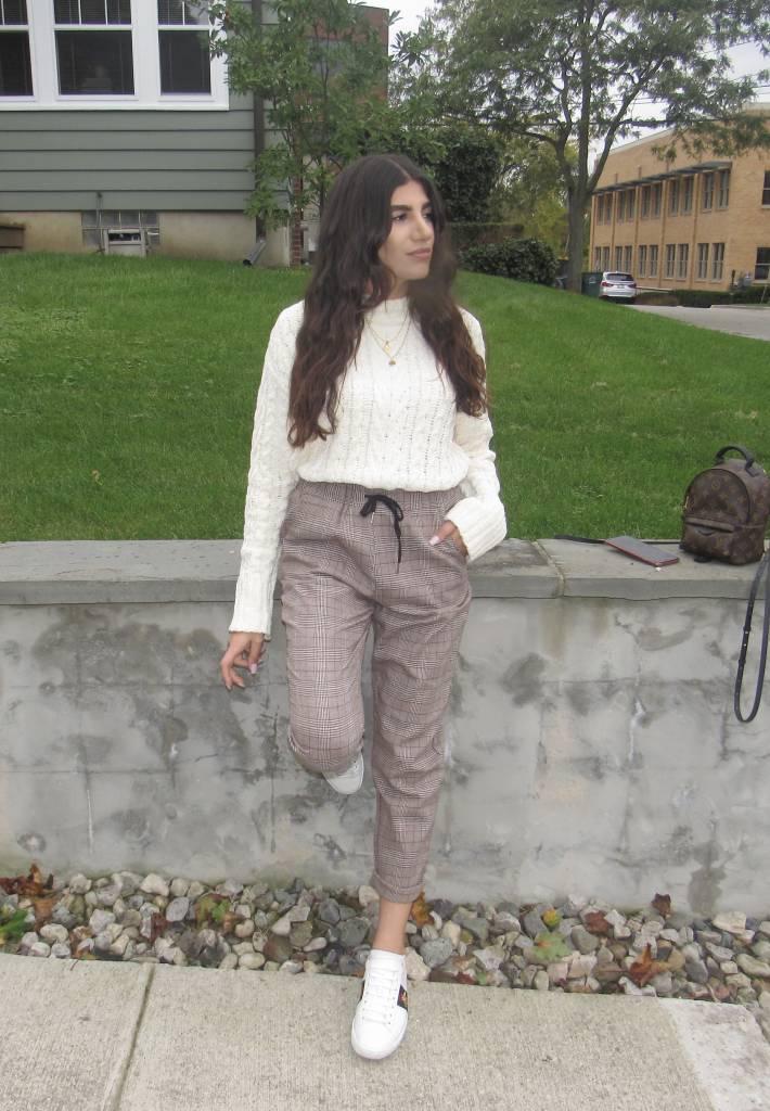 Plaid Tweed Trouser