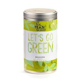 For Tea's Sake For Tea's Sake, Go Green Jasmine Tea Blend Tea Bags (1.58OZ/45G)