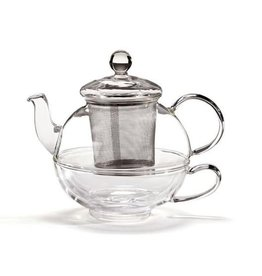 For Tea's Sake For Tea's Sake Glass Tea-for-One Infuser Teapot