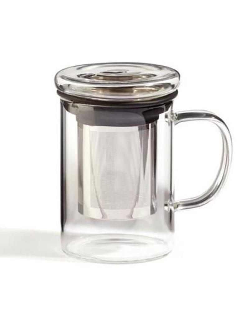 For Tea's Sake For Tea's Sake Glass Infuser Mug