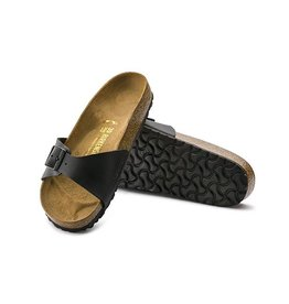 b39b46a71b8 Birkenstock Madrid - Birko-Flor in Black (Classic Footbed - Suede Lined)