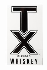 Stickers TX WHISKEY DECAL, BLACK