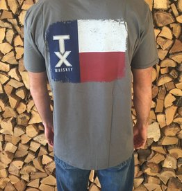 T Shirts TEXAS FLAG, GRAY - MASTER