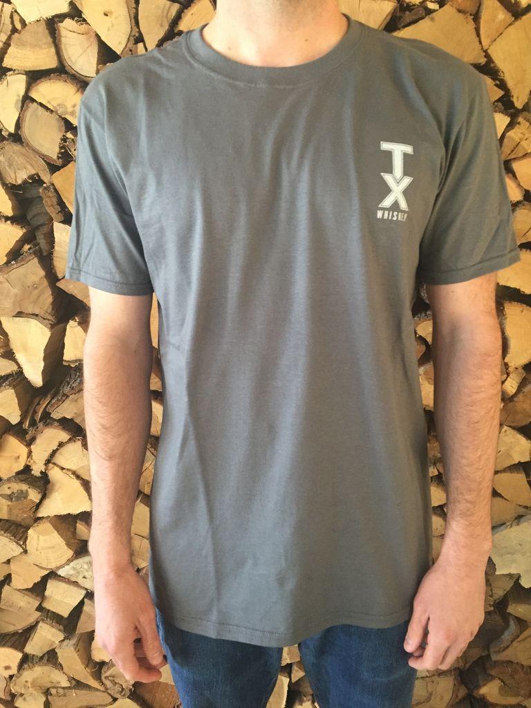 T Shirts TEXAS FLAG, GRAY - MASTER