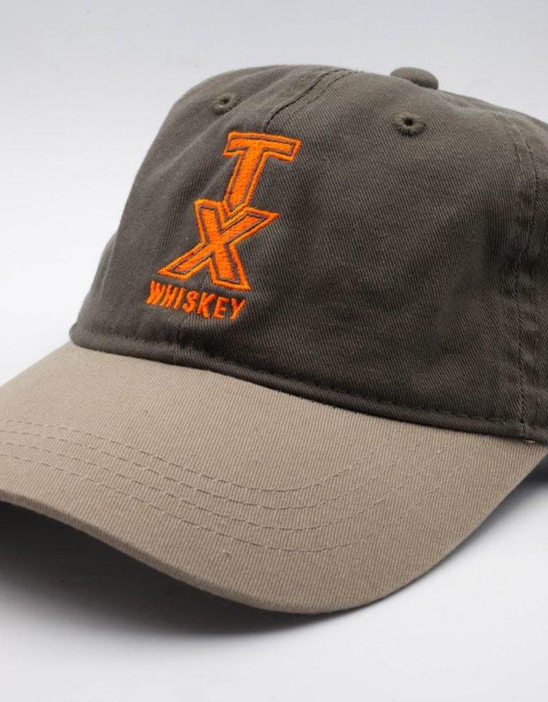 Hats BASEBALL HAT, GREEN WITH ORANGE