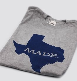 T Shirts TX MADE, XL, GRAY/NAVY