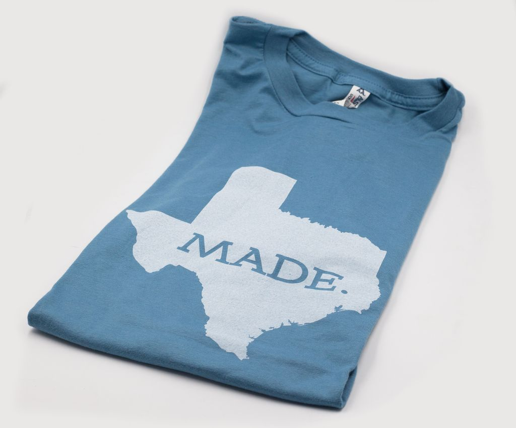 T Shirts TX MADE, XL, SLATE