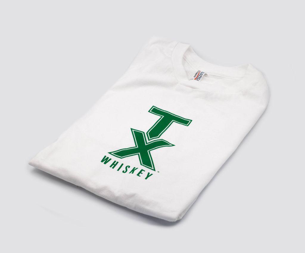T Shirts TX WHISKEY, L, WHITE/GREEN