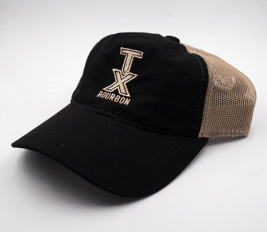 Hats Black and Tan Bourbon Mesh Hat