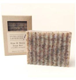 Silver Linings Lavender Rise & Shine Soap Bar w/ Mint & Coffee