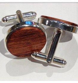 Cufflinks, Mahogany Wood