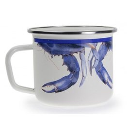 Golden Rabbit Blue Crab Soup Mug