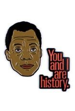 Unemployed Philosophers Guild James Baldwin Enamel Pin, Set of 2