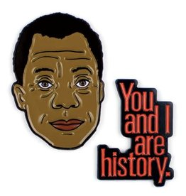 Unemployed Philosophers Guild James Baldwin Enamel Pin, Set of 2