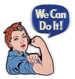 Unemployed Philosophers Guild Rosie the Riveter Enamel Pin, Set of 2