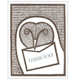 Single Greeting Card - Thank You Owl