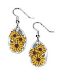 David Howell & Co. Black-Eyed Susan Earrings