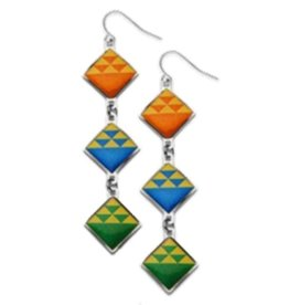 David Howell & Co. Birds in Flight Quilt Earrings