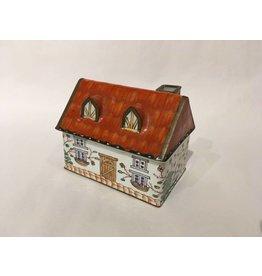 Enamel-on-Copper House Trinket Box