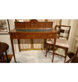 Satinwood Lady's Writing Desk and Chair