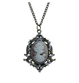 Madison Bay Company Cameo Necklace, Bronze