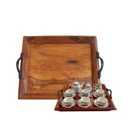 Madison Bay Company Wooden Tea Tray, Small