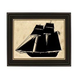 Madison Bay Company Framed Silhouette - 1812 Baltimore Clipper