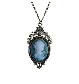 Madison Bay Company Cameo Necklace, Green