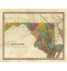 Finley Atlas Maryland Print, Matted