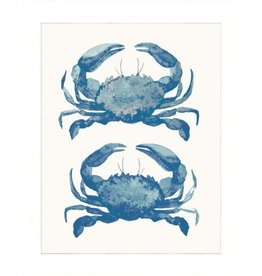Watercolor Crabs Print, Matted