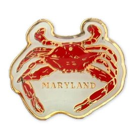 Lapel Pin - Enamel Maryland Crab