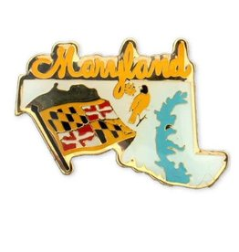 Lapel Pin - Enamel Maryland Map