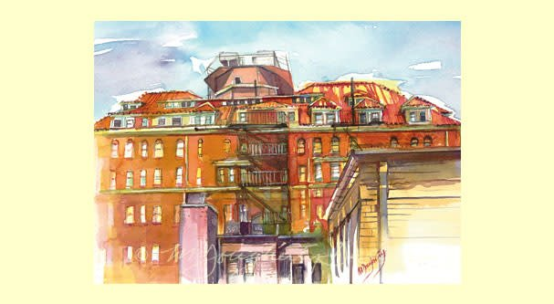 Large Single Card - Stafford Hotel Roof