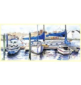 Large Single Card - Sailboats, Fells Point