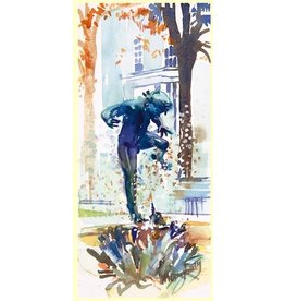 M.Dougherty Watercolor Print - Turtle Boy, Blue