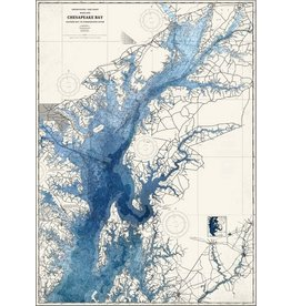 Watercolor Chesapeake Bay Print, Matted