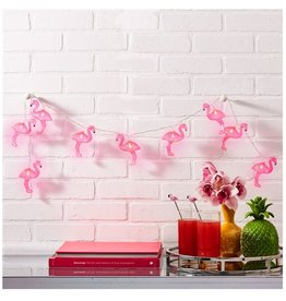 Pink Flamingo LED String Lights