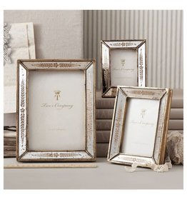 Gold Leaf Mirror Photo Frame, 6.25x8.25