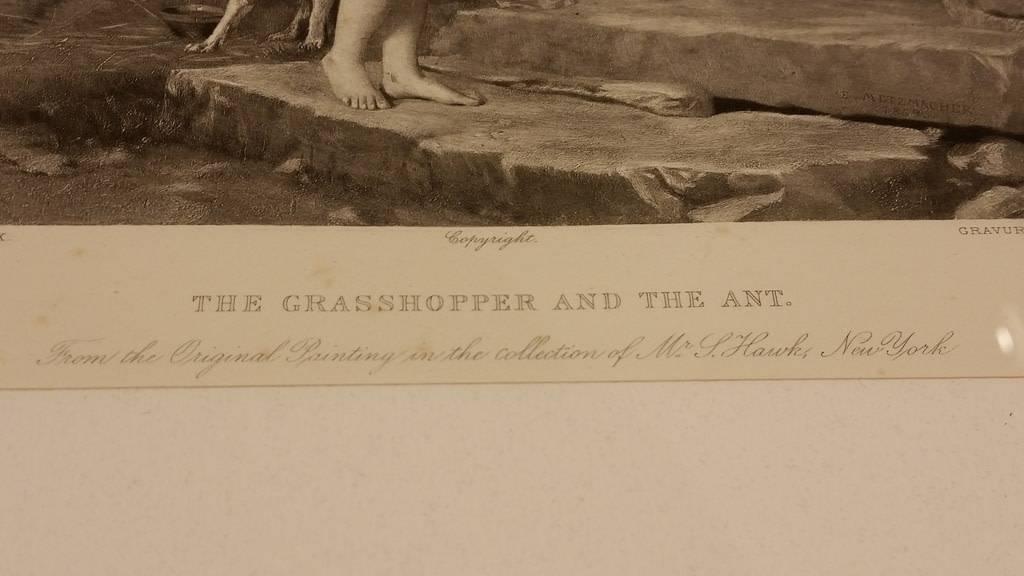 Framed Print The Grasshopper & the Ant