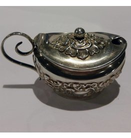 English Sterling Condiment Jar