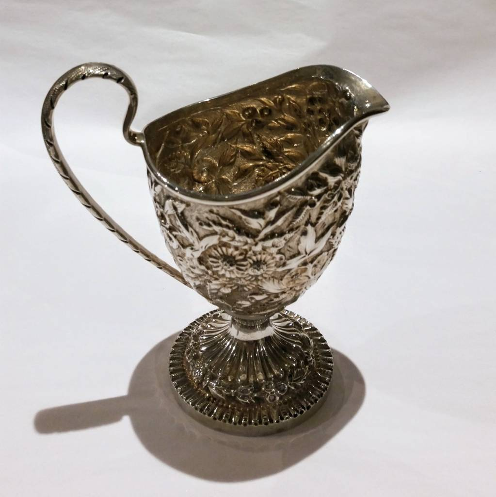 Sterling Repousse Creamer, 11 oz