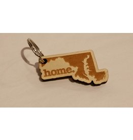 Home State Apparel Wooden Keychain - home.